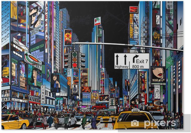 street in New York city Poster -