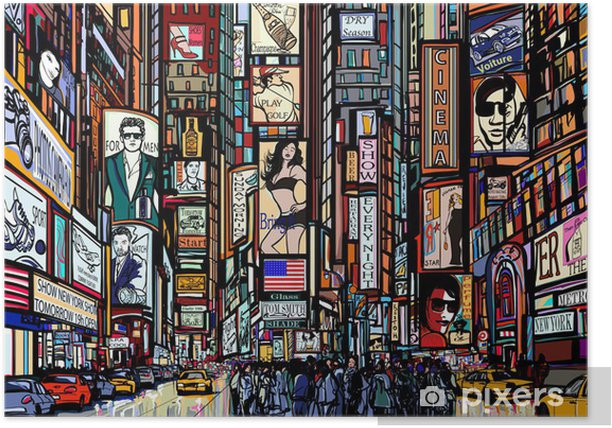 street in New York city Poster - Art & lifestyle
