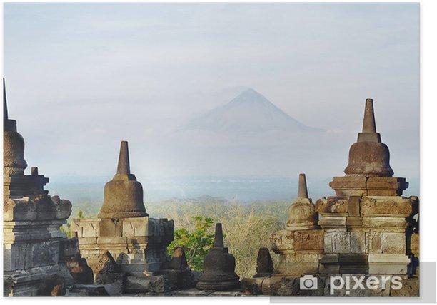Poster Stupa van Borobodur - Azië