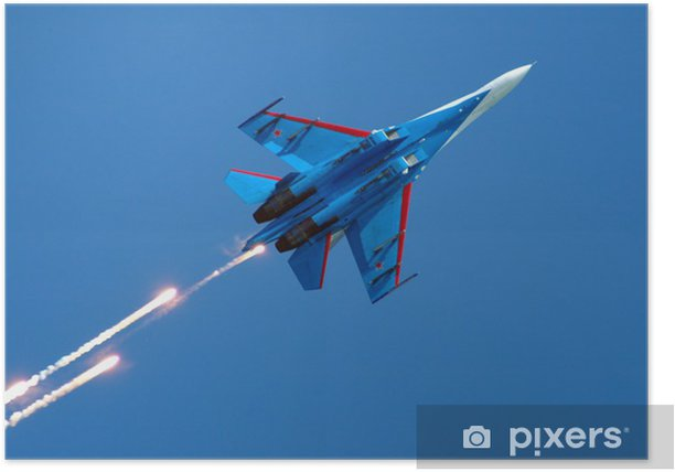 su-27 fireworks Poster - Entertainment