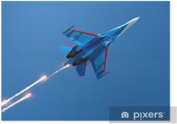 Póster Su-27 fuegos artificiales - Entretenimiento