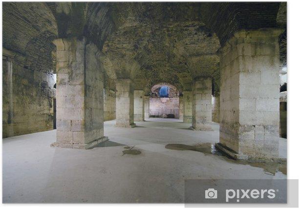 Póster Subterránea del palacio de Diocleciano - Europa
