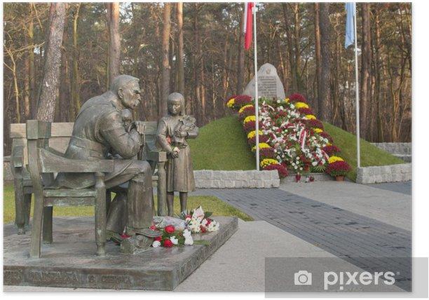Poster Sulejowek - Monument de Josef Pilsudski - Vacances