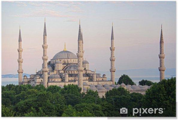 Poster Sultanahmet Camii het meest bekend als de Blauwe Moskee - Midden Oosten
