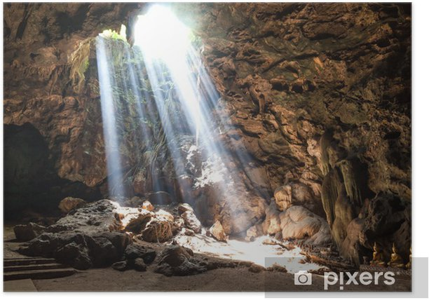 Sun Light in the cave Poster - Themes
