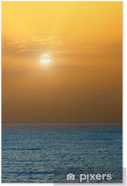 Sunrise over Atlantic ocean Poster - Water
