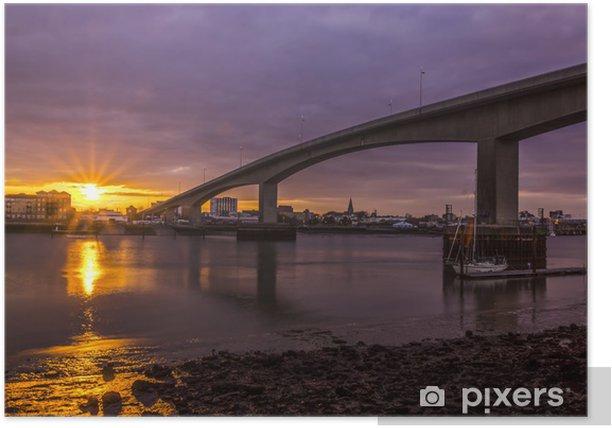 Sunset at Southampton's Itchen Bridge Poster - Europe