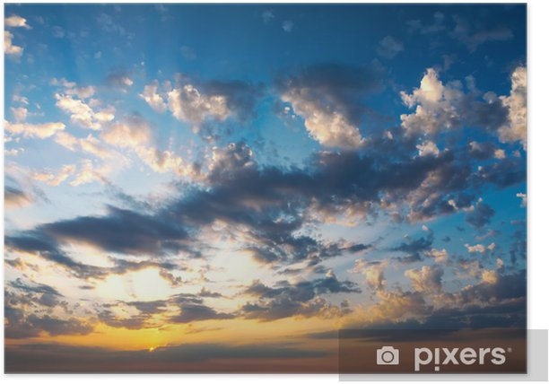 Sunset clouds Poster - Themes
