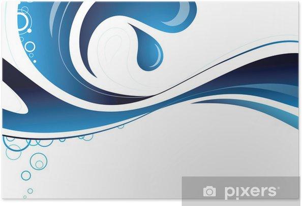 Poster Surface de l'eau - Abstrait