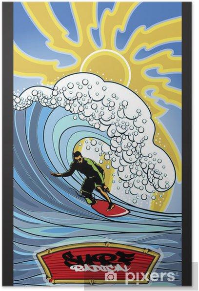 Poster Surfer radical - Vacances
