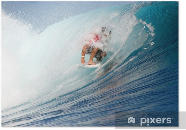 Poster Surfeur teahupoo - Sports aquatiques
