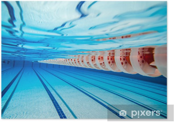 Water Polo Goal And Ball In Swimming Pool Poster | Rotation ...
