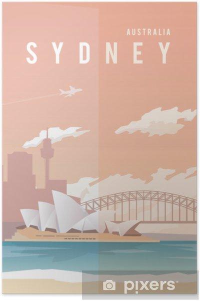 Poster Sydney. affiche de vecteur. - Bâtiments et architecture