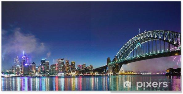 Poster Sydney Harbour NYE Fireworks Panorama - Thèmes