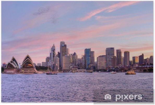 Póster Sydney, Pink Sunset 1 - Temas