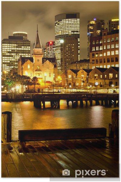 """Poster Sydney """"The Rocks"""" et Downtown 3 - Thèmes"""