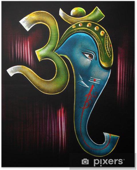 poster symbole de l'éléphant de l'univers • pixers® - nous vivons