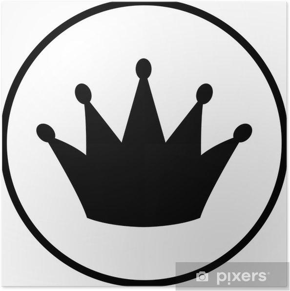 Poster Symbole de la couronne - Réussite