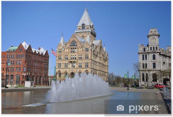 Póster Syracuse Saving Bank, Clinton Square, Syracuse, Estado de Nueva York - América