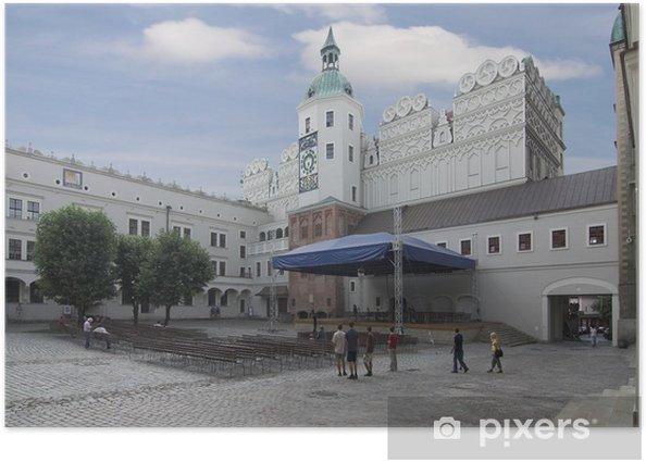 szczecin - castle (inside square)- poland Poster - Europe
