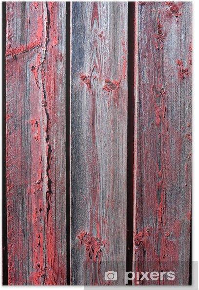 Poster Table en bois vieilli - Textures