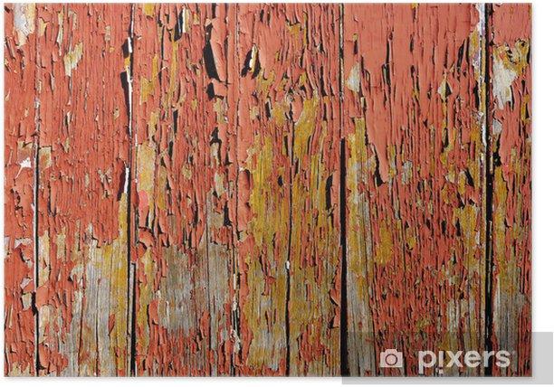 Poster Table en bois vieilli - Monuments