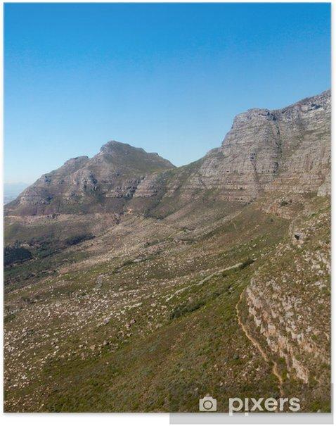 Poster Table Mountain Le Cap, Afrique du Sud - Afrique
