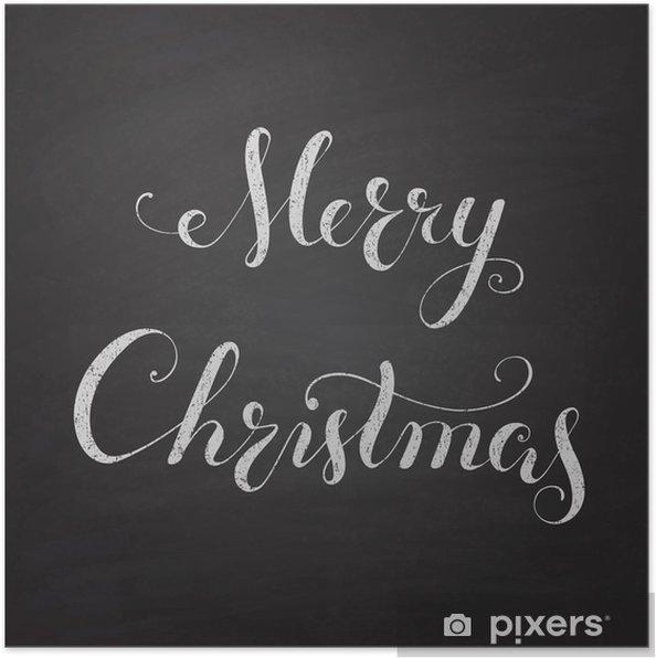 Poster Tableau de Noël avec la calligraphie lettrage. - Vacances