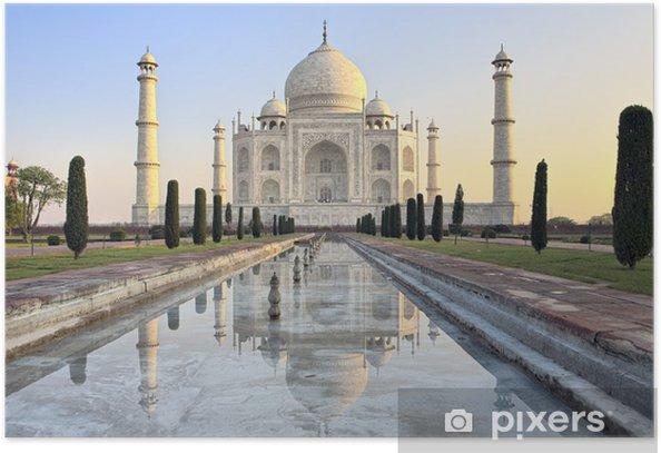 Poster Taj Mahal au lever du soleil - Thèmes