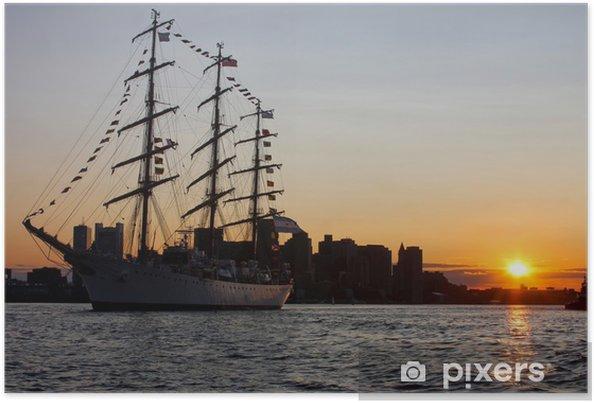 Poster Tall navire pendant Voile Boston 2009 à Boston Harbor - Bateaux
