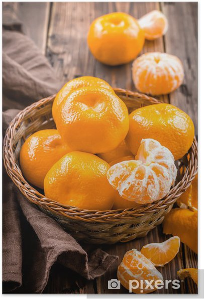 Poster Tangerines - Fruits