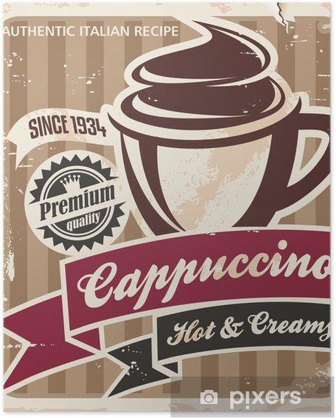Poster Tappning cappuccino affisch - Stilar