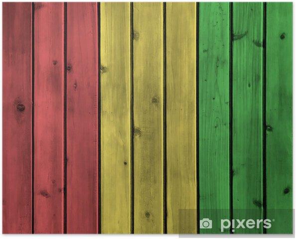 Póster Tarjeta de madera de textura - Fondos