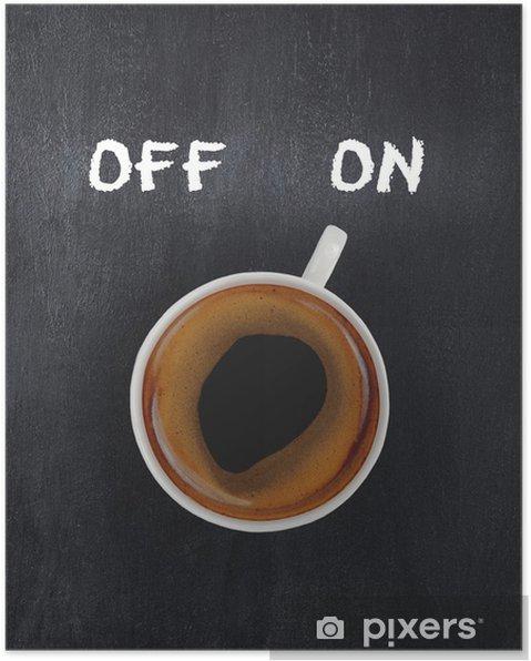 Poster Tasse de café sur la commutation - Thèmes