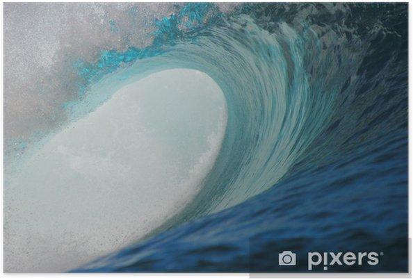 Poster Teahupoo ondes - Sports aquatiques