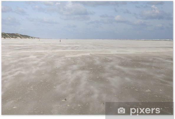 Poster Tempête de sable - Eau