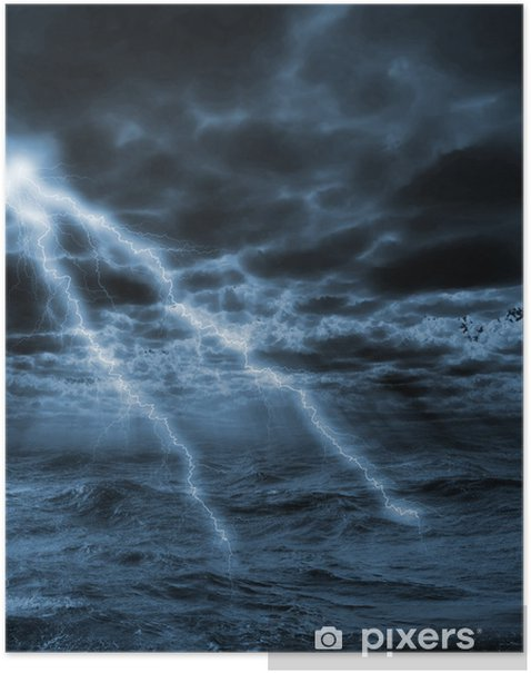 Poster Tempête - Catastrophes naturelles