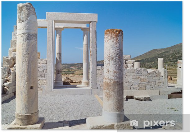Temple of Demeter, Naxos island, Greece Poster - Europe