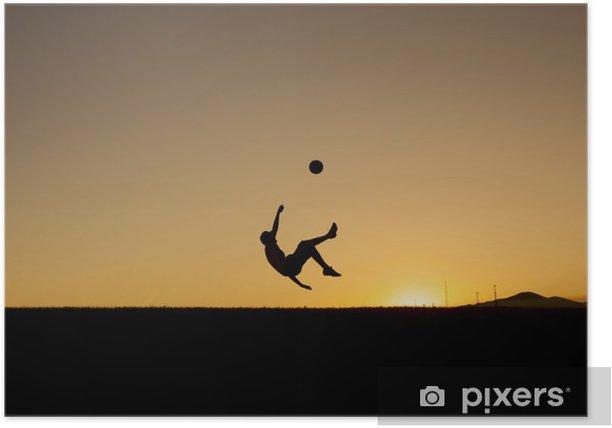 Poster Temps de soccer - Matchs et compétition