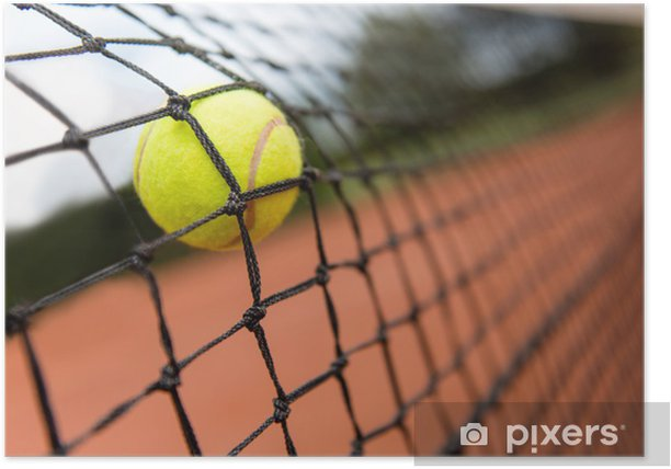 Tennis Ball Bouncing On The Net Poster Pixers We Live To Change