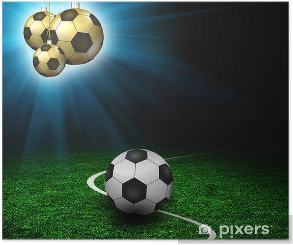 Poster Terrain De Football De Football Joyeux Noel Pixers Nous