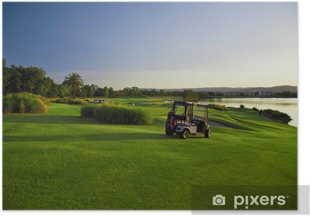 Poster Terrain de golf et les poussettes - Sports individuels