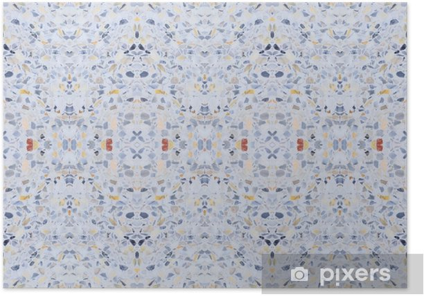 Terrazzo Flooring Old Texture Or Polished Stone Pattern Seamless And Color Wall Surface Marble Design For Background Image Horizontal Poster