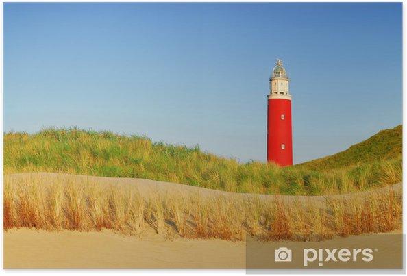 Poster Texel vuurtoren - Vakantie