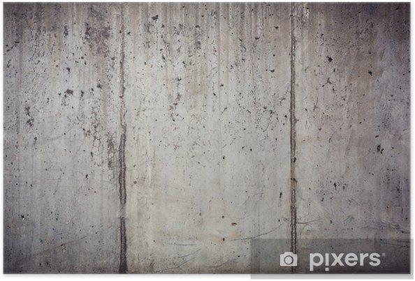 Póster Textura del antiguo muro de hormigón - Temas