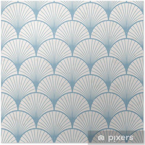 Póster Textura transparente de patrón japonés retro - Estilos