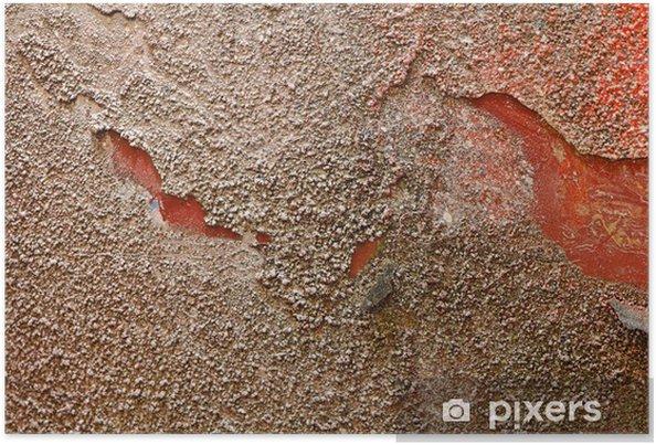 Poster Texture d'or rouge - Matières premières