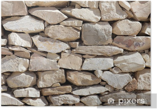 Poster Texture de la pose des pierres. - Textures