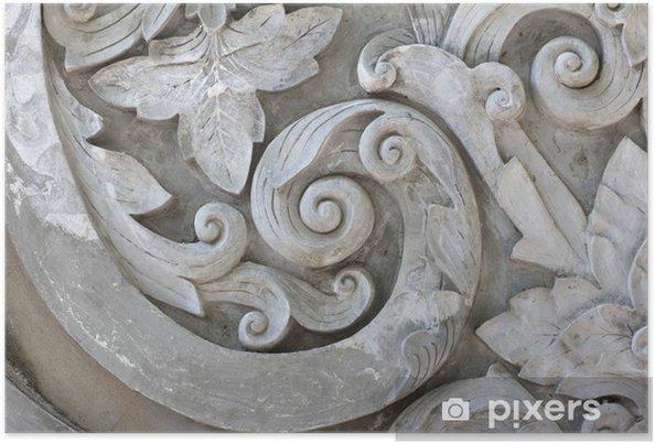 Poster Texture de travail gris Stuc - Textures