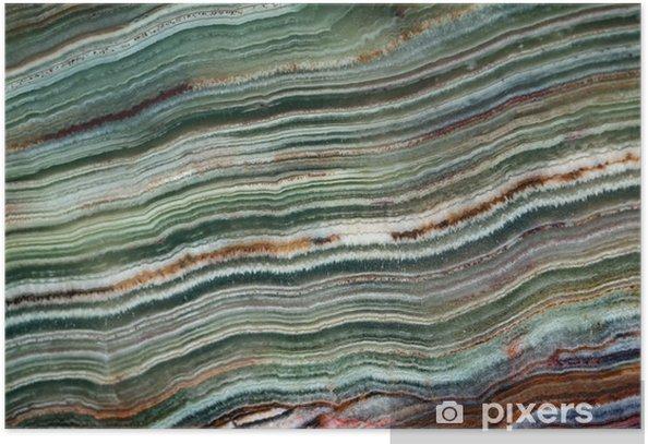 Poster Textuur van edelsteen onyx - Grafische Bronnen